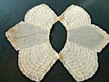 Antique Estate Lace Collar -Diamond Shaped Panels And Textile Closures