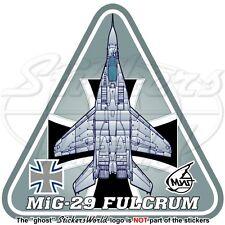 MIG-29 FULCRUM GERMANY AirForce Mikoyan-Gurevich MiG-29A Luftwaffe Decal Sticker