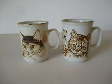 2 mugs Dunoon avec chat et chaton