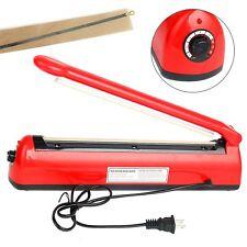 """12"""" 300mm Hand Impulse Heat Sealer Machine Manual Seal Plastic Bag Closer Kit US"""