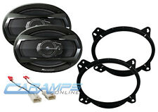 PIONEER FRONT CAR STEREO SPEAKER MOUNTING ADAPTER BRACKETS WITH SPEAKER HARNESS
