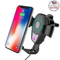 Qi Wireless Car Charger Mount Baseus Gravity Air Vent Phone Holder for iPhone