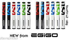EGIGO GOLF TOUR FIT 60 GM SUPERLIGHTWEIGHT MIDSIZE PUTTER GRIP. WHITE / RED