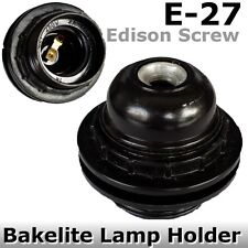 Edison Screw ES Bakelite Lamp HOLDER E27 Light Bulb DIY DECO lamp BLACK fitting