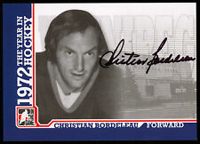 09 ITG 1972 THE YEAR IN HOCKEY WHA AUTO AUTOGRAPH CHRIS BORDELEAU WINNIPEG JETS