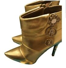 Limited edition Anna Dello Russo Gold Boots size 40