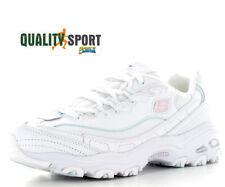Skechers D'Lites Sparkling Bianco Scarpe Shoes Donna Sneakers 149060 WLPK 2020