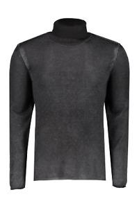 JOHN VARVATOS Artisan Luxury Grey Turtle Neck Silk & Cashmere Top RRP: £350.00