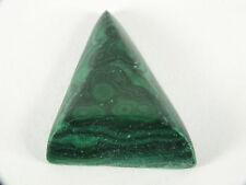 Malachite Australian Cabochon Triangular Freeform (EA6610) Green Gem