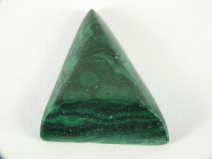 Malachite Australian Cabochon Triangular Freeform (EA6610) Green Gem