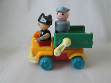 Fisher Price Playmobil Captain Hook & Driver Figure Elevator Lift Delivery Truck