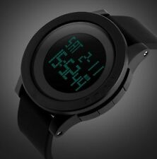 Mens Wrist Watch Sports Army Military Digital Quartz withRubber Band Black