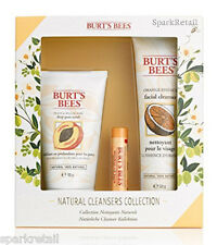 Burt's Bees NATURAL CLEANSERS Collection: Face Scrub/Cleanser/Beeswax Lip Balm