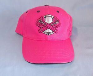 New Pink Rome Braves Tomahawk Baseball Cap Genuine Minor League Merchandise