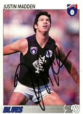 ✺Signed✺ 1993 CARLTON BLUES AFL Card JUSTIN MADDEN