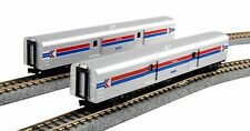 KATO 1063512 N Amtrak Baggage Car Phase I 2 Car Set Road# 1075/1076 106-3512 NEW
