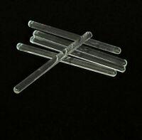 10 x New Glass Stirring Rods(6mmx100mm) for Lab Use Stir Bar Stirrer Laboratory