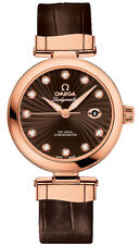 425.63.34.20.63.001 | NEW BROWN OMEGA DeVILLE LADYMATIC SOLID GOLD WOMEN'S WATCH