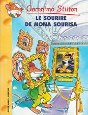 GERONIMO STILTON N°1 Le sourire de Mona Sourisa livre jeunesse