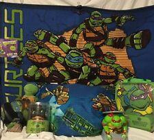 teenage mutant ninja turtles 4pc toddler bed set rug pillow bank nightlight kids