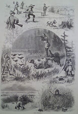 FIRST DAY OF HUNTING SEASON IN NEW JERSEY 1877 HARPER'S WEEKLY