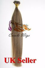 """20"""" 1g/s 7A* Nano Ring Double Drawn Indian Remy Human Hair Extensions UK 1st"""