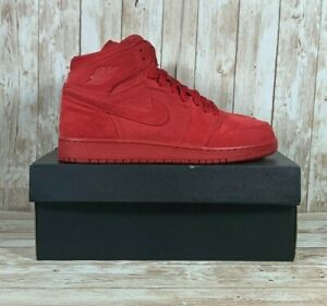 Jordan 1 Retro Red Suede High Top 705300-603 Youth Size 6Y Women's Size 7.5