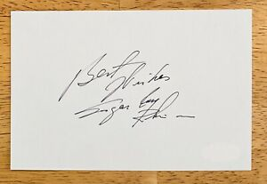 Sugar Ray Robinson Signed Autographed 4x6 Card Full JSA Letter Certified Boxer