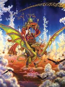 Jigsaw Puzzle Fantasy Dragon Flight 1000 piece NEW Made in USA