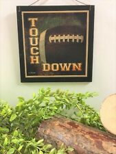 Football Touch Down boys Sports bedroom wood Wall Art Sign childrens room Decor