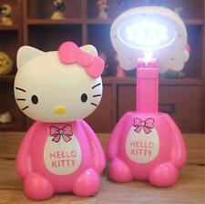 HelloKitty LED Energy-Saving Charging Desk Lamp Light Scalable Desktop Lamp Gift