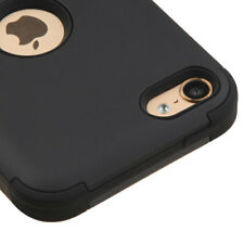 FOR APPLE IPOD TOUCH 5 6 5TH 6TH GEN FULL BLACK SHOCK TUFF CASE COVER