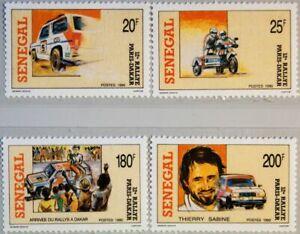 SENEGAL 1990 1072-75 874-77 Paris Dakar Rally Autos Cars Motorbikes Motorrad MNH