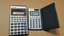 Vintage Retro Sharp EL-531A + Casio HS-85TE solar Scientific Calculators working