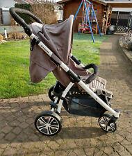 Gesslein S4 Air+ Buggy mit Adapter für Babyschale, mit Sonnendach und Fussstütze
