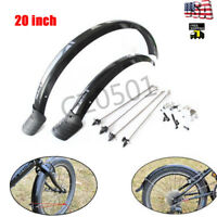 "20"" MTB Folding Bike Mudguard Set Front+Rear Fenders Bicycle Lightweight 1Pair"