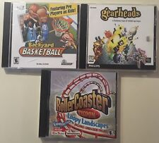 Roller Coaster Tycoon Gearheads Backyard Basketball PC CD-rom Philips Loopy Game