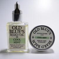 Old Blue's Beard Oil &Balm Cool Mint 100% Natural Vitamin E 30ml of each