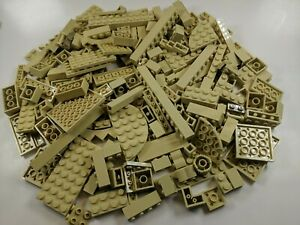 100 Random LEGO Tan Bulk Lot of Bricks Plates Specialty Parts Pieces Star Wars