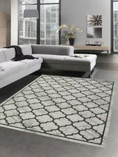 Carpet designer and modern rug moroccan pattern in gray turquoise