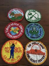 Lot Of Six Vintage Girl Scout Patches Eyes Into The 80's Indian Orchards