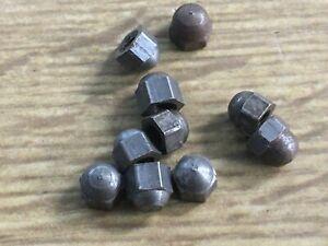 10 x 6BA self colour steel dome nuts BA thread ENGINEER STEAM RAIL RESTORE
