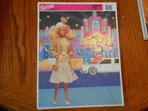 1991 Mattel BARBIE ON THE TOWN Frame Tray Puzzle by GOLDEN