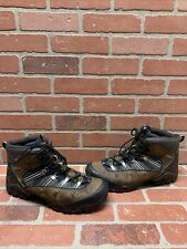 ECCO Receptor Brown Leather GORE-TEX Lace Up Hiking Boots Men's Size 12.5