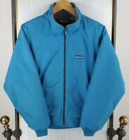 VTG PATAGONIA Size Medium Made in USA Womens Fleece Lined Softshell Jacket Blue