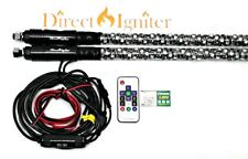 AMERICAN DREAM WRAPPED LED WHIPS-BY DIRECT IGNITER 3' SINGLE 316 MODES USA SELLR