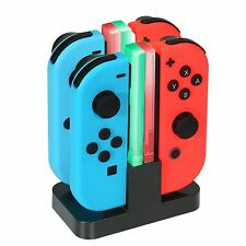 Nintendo Switch Joy Con Charger Dock 4 in 1 Charging Stand LED Indication UK 03