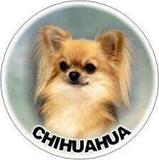2 Long Coat Chihuahua Car Stickers By Starprint