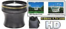 4.7x Xtreme Hi Def Telephoto Lens for Panasonic HDC-TM900K HDC-HS900K