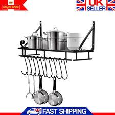 Simple Kitchen Hanging Pot Pan Rack Wall Mount  Storage Shelf Saucepan Holder